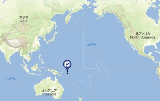 ソロモン諸島の位置