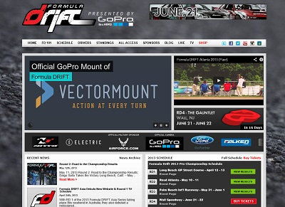 FormulaDriftのwebサイト