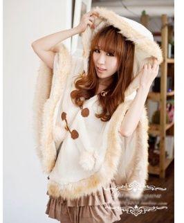 【冬のふんわりファッション】ポンチョで可愛くきめる♪