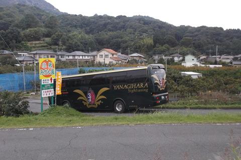 観光バス訪れる