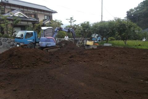 解体作業-入替土