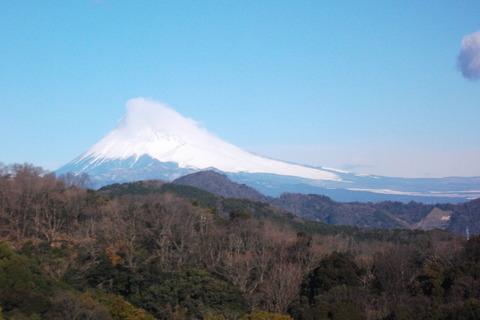見えた富士山