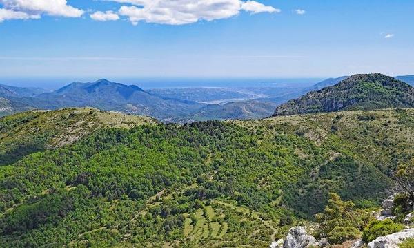 南フランスの高原地帯