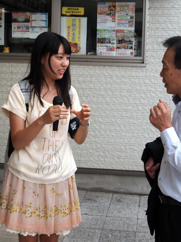 女性アイドル 取材