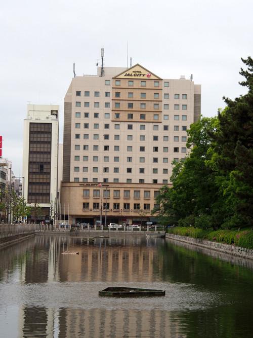 2017080101松山城南堀とホテルJAL CITY松山