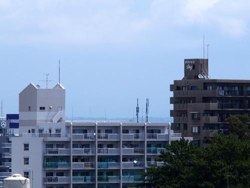 2018090811天気が良ければ浜松城から見える富士山方面の眺め