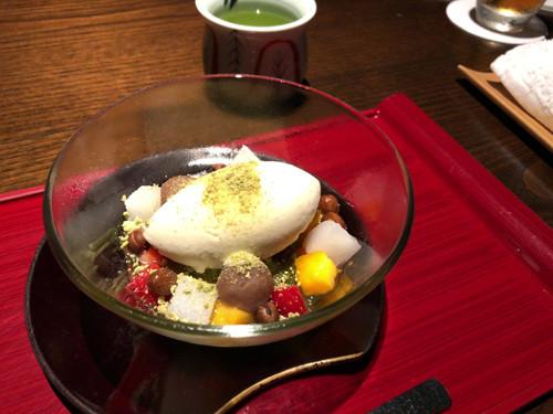 2018090315界遠州特製緑茶あんみつ
