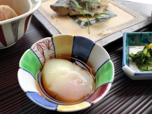 2018090512朝食の温泉玉子