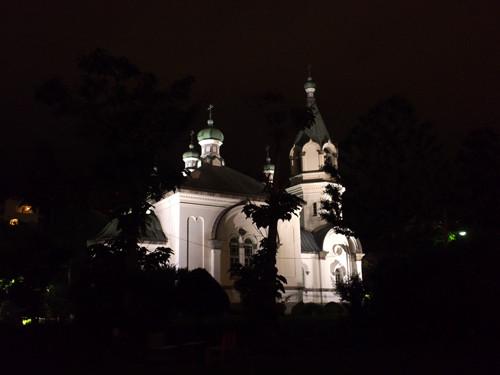 H506ライトアップの函館ハリストス正教会