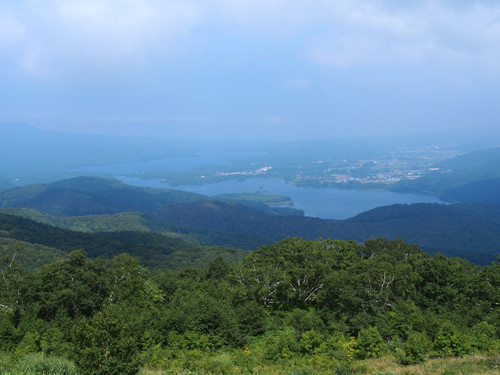 2017113002きじひき高原の展望台から大沼公園方面の眺め