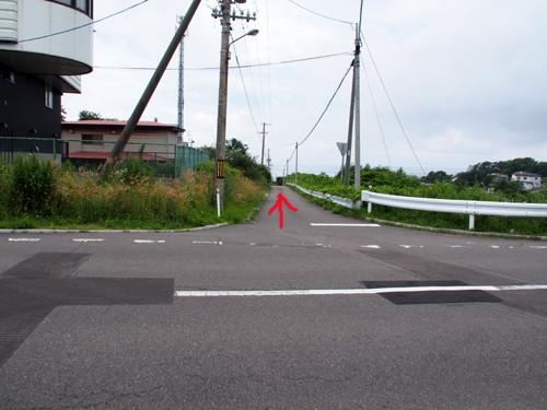 13志苔館跡への道
