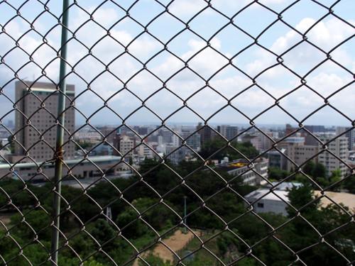 2018090809天守閣から北東方面の眺め