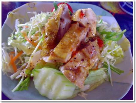 バーベキューチキンのサラダ