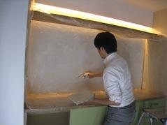 11壁塗り