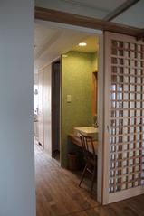 05廊下の洗面台