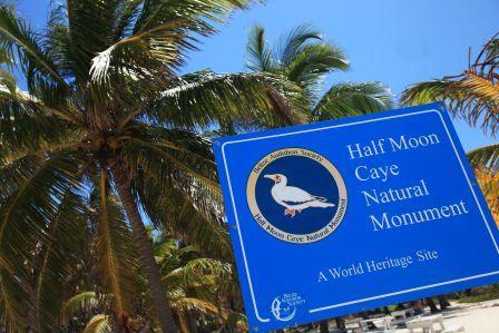halfmoon caye sign