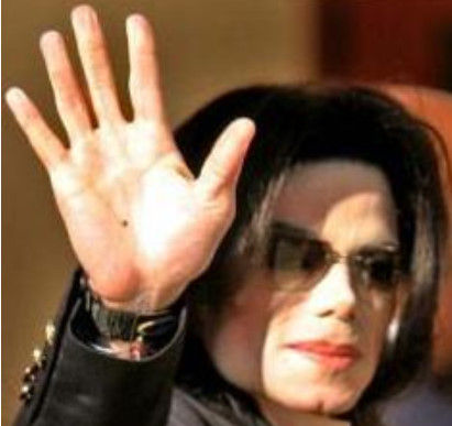 マイケルジャクソン手相 有名人・芸能人手相画像集