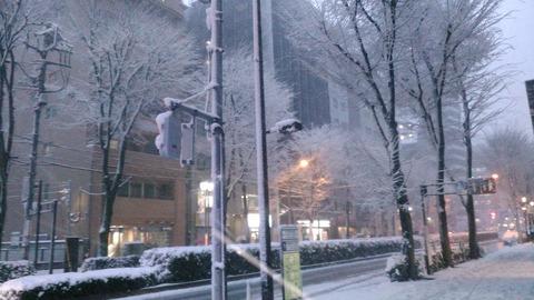 0122大雪 東京池袋の状況