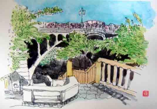 2011 9 23 S君の絵 王子の橋