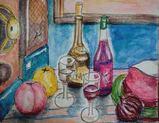 09 8 28 桃とワイン