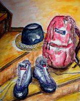 09 8 12  登山靴とリュック