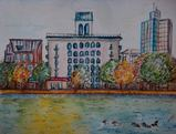 10  3  5  大濠公園  水彩色鉛筆