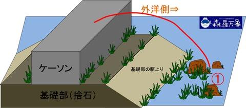 ①メバル堤防画像