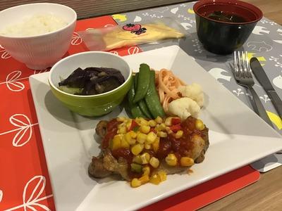平和台夕食