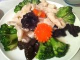 ブロッコリーと鶏肉炒め