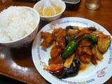 若鶏と茄子の豆板醤炒め定食