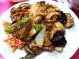 茄子と豚肉黒酢炒め