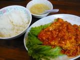 海老と玉子のトマトソース煮定食