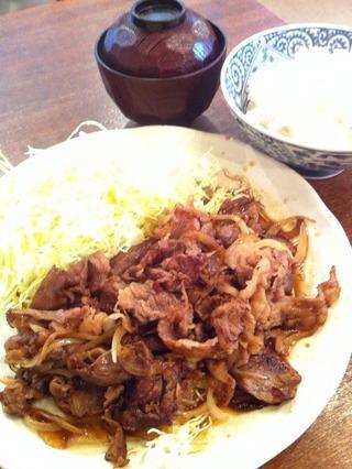 和牛しょうが焼き定食