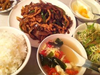 ザーサイと豚肉の炒め定食