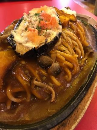 秋ナスのモッツァレラチーズ焼きスパ