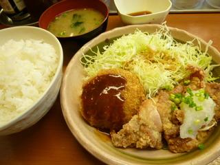ビーフメンチカツ&若鶏竜田定食