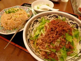 冷し坦々麺+半チャン