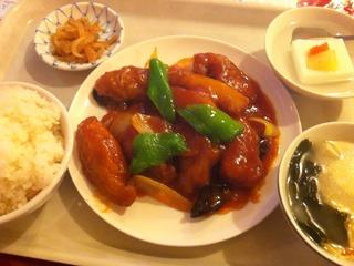 白身魚の甘酢炒め