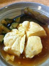 玉子寄せ豆腐+なすの煮びたし