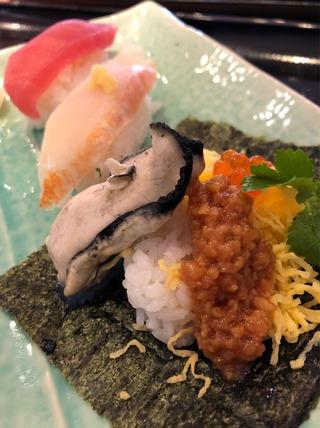 早春の寿司3貫