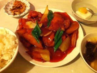 鶏肉甘酢炒め