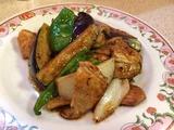 秋ナスと豚肉の味噌炒め