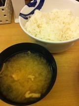 ライス&味噌汁