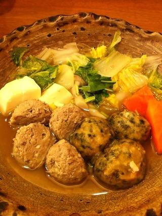 鯵つみれと里芋団子の和風鍋