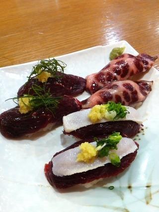 鯨寿司盛合