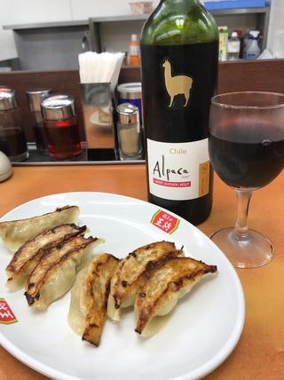 餃子ワイン