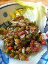 レンズ豆のマスタードサラダ