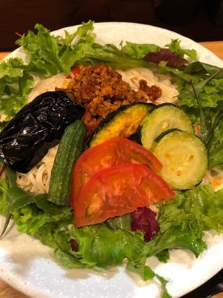 彩り夏野菜の冷やし坦々麺