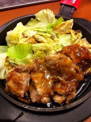 回鍋肉+チキン竜田