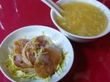 蒸し鶏&スープ